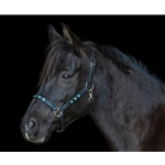 bluebling (dark blue) Turnout HALTER & LEAD made from BETA BIOTHANE (with BLING)