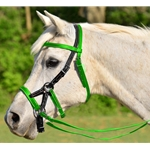 SIDEPULL Bitless Bridle made from BETA BIOTHANE (Mix N Match) **Green Bean Official Tack***