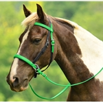 2 in 1 BITLESS BRIDLE made from BETA BIOTHANE (Mix N Match) **Green Bean Official Tack***
