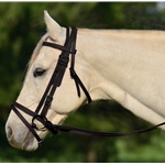 BLACK ENGLISH BRIDLE with CAVESSON made from BETA BIOTHANE