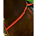 orange ENGLISH BREAST COLLAR made from BETA BIOTHANE (Solid Colored)