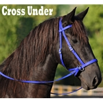 DARK BLUE 2 in 1 BITLESS BRIDLES