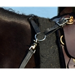 black ENGLISH BREAST COLLAR made from BETA BIOTHANE (Any 2 COLOR COMBO)