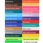 betabiothanecolors ENGLISH BREAST COLLAR made from BETA BIOTHANE (Any 2 COLOR COMBO)