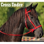 RED 2 in 1 BITLESS BRIDLES