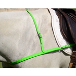 LIME GREEN JUMPING ENGLISH BREAST COLLAR made from BETA BIOTHANE