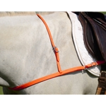 ORANGE JUMPING ENGLISH BREAST COLLAR made from BETA BIOTHANE