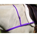 PURPLE JUMPING ENGLISH BREAST COLLAR made from BETA BIOTHANE