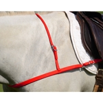 RED JUMPING ENGLISH BREAST COLLAR made from BETA BIOTHANE