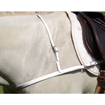 WHITE JUMPING ENGLISH BREAST COLLAR made from BETA BIOTHANE