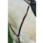 BROWN ENGLISH BREAST COLLAR made from BETA BIOTHANE (Solid Colored)