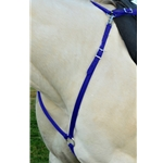 DARK BLUE ENGLISH BREAST COLLAR made from BETA BIOTHANE (Solid Colored)