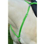 LIME GREEN ENGLISH BREAST COLLAR made from BETA BIOTHANE (Solid Colored)