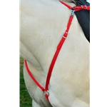 RED ENGLISH BREAST COLLAR made from BETA BIOTHANE (Solid Colored)