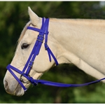 DARK BLUE ENGLISH BRIDLE with CAVESSON made from BETA BIOTHANE