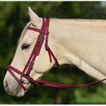 WINE ENGLISH BRIDLE with CAVESSON made from BETA BIOTHANE