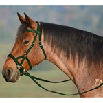 HUNTER GREEN SIDEPULL Bitless Bridle made from BETA BIOTHANE