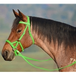 LIME GREEN SIDEPULL Bitless Bridle made from BETA BIOTHANE