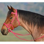 PINK SIDEPULL Bitless Bridle made from BETA BIOTHANE