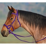 PURPLE SIDEPULL Bitless Bridle made from BETA BIOTHANE