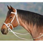 WHITE SIDEPULL Bitless Bridle made from BETA BIOTHANE