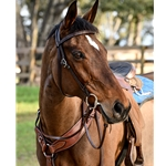 brown (dark, chocolate)leather WESTERN BRIDLE (Full Browband) made from LEATHER
