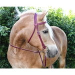 brown (dark, chocolate) leathe WESTERN BRIDLE (Full Browband) made from LEATHER