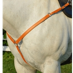 ORANGE WESTERN BREAST COLLAR made from BETA BIOTHANE
