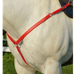 RED WESTERN BREAST COLLAR made from BETA BIOTHANE