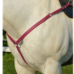 WINE WESTERN BREAST COLLAR made from BETA BIOTHANE
