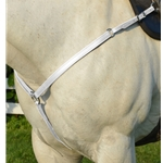 WHITE WESTERN BREAST COLLAR made from BETA BIOTHANE