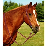 WINE WESTERN BRIDLE (One Ear or Two Ear Split Ear Browband) made from BETA BIOTHANE