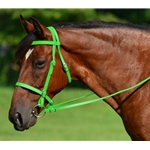 LIME GREEN ENGLISH CONVERT-A-BRIDLE made from BETA BIOTHANE