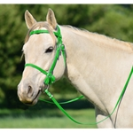 LIME GREEN PICNIC BRIDLE or SIMPLE HALTER BRIDLE made from Beta Biothane