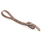 brown (dark, chocolate CURB STRAP made from LEATHER