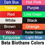 betabiothanecolors STANDING MARTINGALE made from BETA BIOTHANE (Solid Colored)