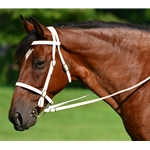 White English Bridle and Reins (Large Pony Size)