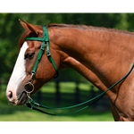 Hunter Green Western Bridle and Breastcollar (Horse Size) **Discount Tack**