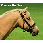 2 in 1 Bitless Headstall in Brown Leather (Horse Size)**Discount Tack**