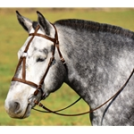WARMBLOOD/THOROUGHBRED SIZE War or Medieval Bridle made from BETA BIOTHANE