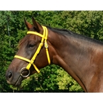 yellow ENGLISH CONVERT-A-BRIDLE made from BETA BIOTHANE (Solid Colored)