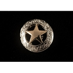 star DOG COLLAR made from BETA BIOTHANE (with Texas Star Conchos)