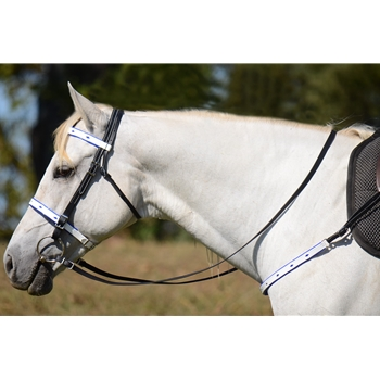 ENGLISH CONVERT-A-BRIDLE with Diamond Shaped Cutouts made from BETA BIOTHANE (ANY 2 COLOR COMBO)