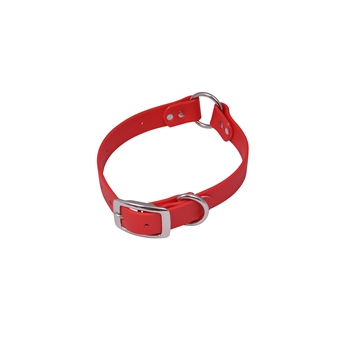 Center Ring DOG COLLAR made from BETA BIOTHANE (Solid Colored)