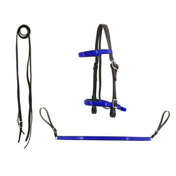 **WHOLESALE/DISCOUNT** ENGLISH CONVERT-A-BRIDLE & BREAST COLLAR SET made from BETA BIOTHANE (ANY 2 COLOR COMBO)