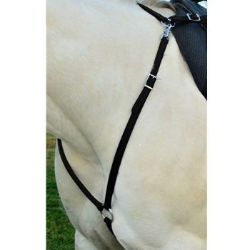 BLACK ENGLISH BREAST COLLAR made from BETA BIOTHANE (Solid Colored)