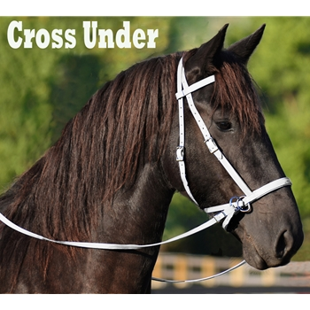WHITE 2 in 1 BITLESS BRIDLES