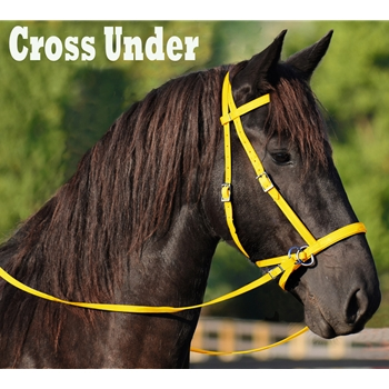 YELLOW 2 in 1 BITLESS BRIDLES