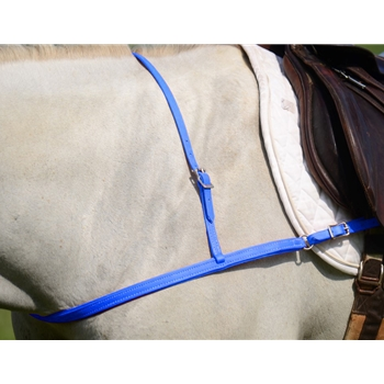 LIGHT BLUE JUMPING ENGLISH BREAST COLLAR made from BETA BIOTHANE