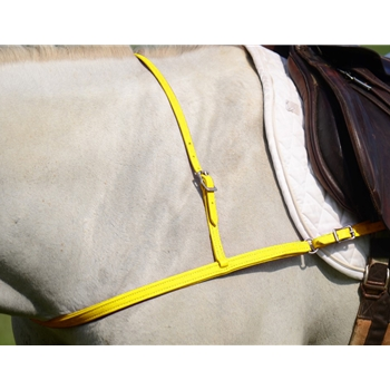 YELLOW JUMPING ENGLISH BREAST COLLAR made from BETA BIOTHANE